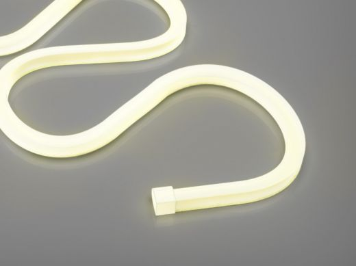 15w/m Flex white LED Strip with 140 LEDs per metre IP65 24v 160 degree beam angle in 8m lengths x 12mm diameter