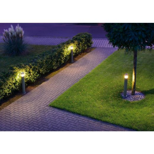 C-POL - Anthracite IP54 230v E27 Max 20w 90cm Height - Surface Mounted Bollard