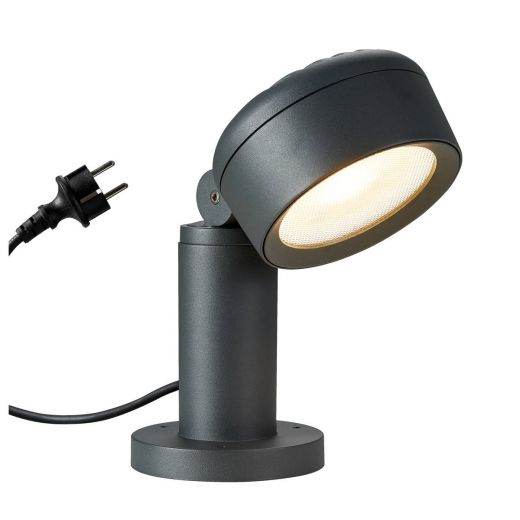 Eskina - Anthracite-IP65 14.5w 1000 Lm 220-240v Switchable 3000k/4000k 31.5cm Height - Path Light 2 Heights