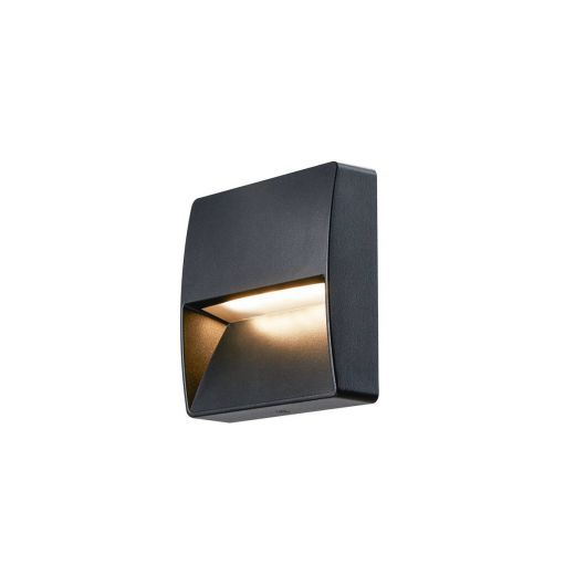Downunder Out - Square - 240v - Matt Anthracite Switchable Colour 3000k/4000k - 140 lm 100-277v IP65 - 4.5w