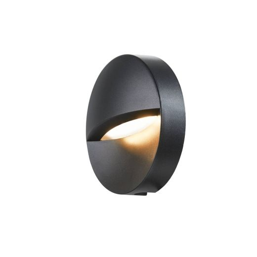 Downunder Out - Round - 240v - Matt Anthracite Switchable Colour 3000k/4000k - 140 lm 100-277v IP65 - 4.5w