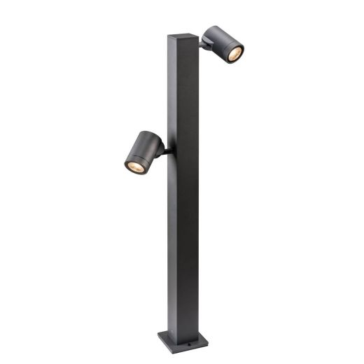 Helia Twin Headed - Anthracite IP55 16w COB LED 3000k 900 Lumens 230v 75cm Height - Path Light