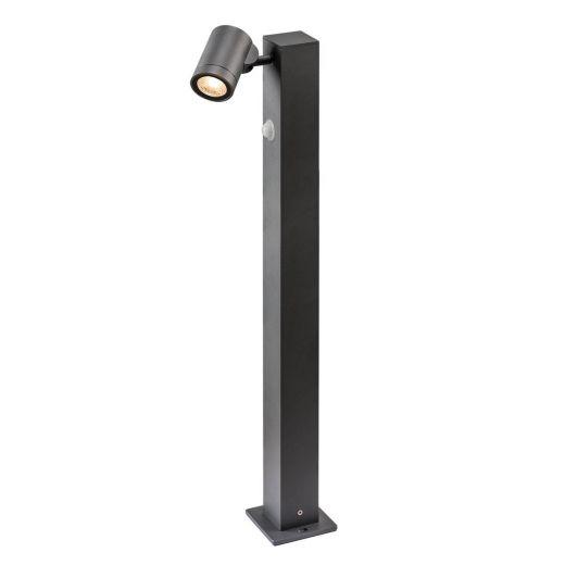 Helia - Anthracite IP55 8w COB LED 3000k 450 Lumens 220 - 240v 75cm Height - Path Light With PIR