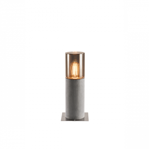 Lisenne - Grey/Brown IP54 E27 Max Wattage 23w 230v 40cm Height - Surface Or Spike Mounted Bollard - Choice Of 2 Heights