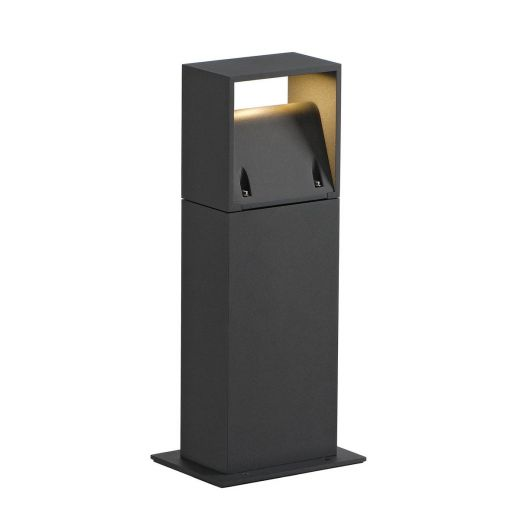 Logs - Anthracite IP44 8w 3000k 420 Lumens 100 - 240v  40cm Height - Path Light - 2 Height Choices