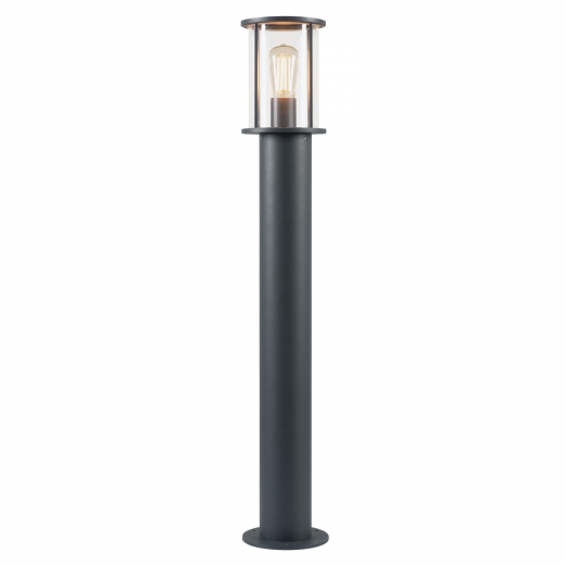 Photonia - Anthracite IP55 E27 Max Wattage 60w 220 - 240v  90cm Height - Surface Mounted Bollard