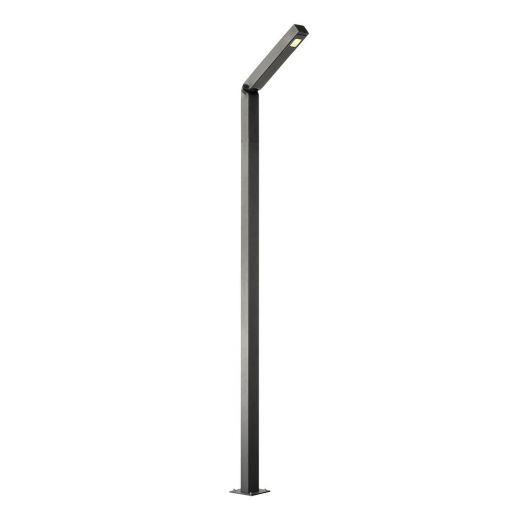 Bendo - Anthracite IP55 30w 3000k Dimmable 220 - 240v 1800 Lumens - 225cm Curved Bollard - Choice of 3 Heights