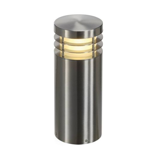 VAP 40 - 304 Stainless Steel IP44 230v E27 23w Max LED 40cm Tall - Surface Mounted Bollard- Choice Of 3 Heights