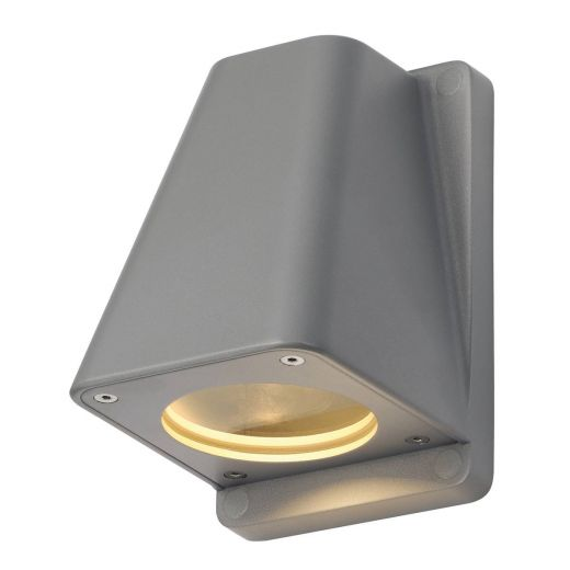 Wallyx - 240v - Grey Powder Coated Aluminium IP44 GU10 - Fixed Down Light Wall Light - Choice of 3 Colours