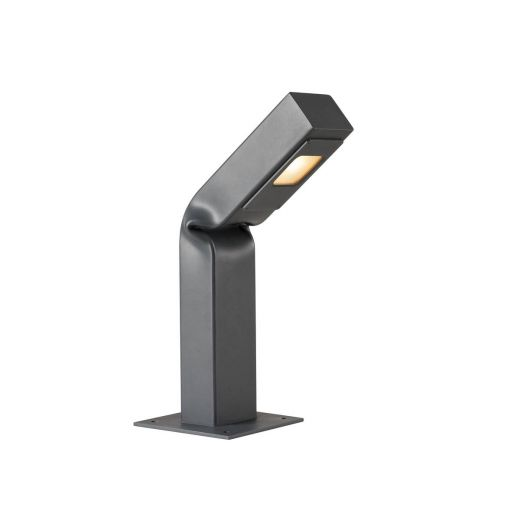 Bendo - Anthracite IP55 6.5w 3000k Dimmable 220 - 240v 420 Lumens 42cm - Curved Bollard - Choice of 3 Heights