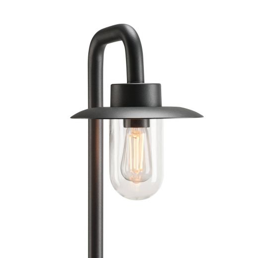 Molat - Anthracite Aluminum IP44 E27 Max 60w 230v - 1m Height - Surface or Spike Mounted Bollard