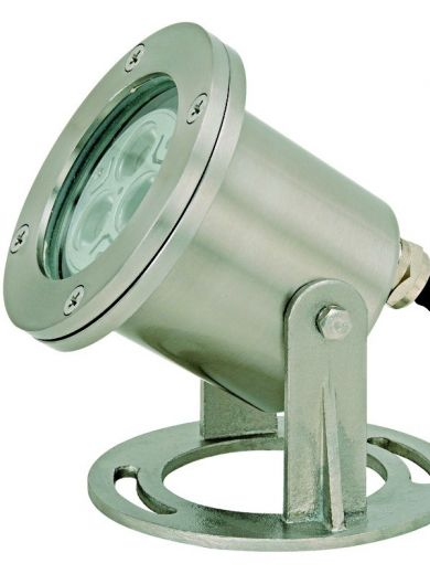 Hydro Underwater Light - 12v - 316 Stainless Steel MR16 IP68 Comes With Base & 6m Cable