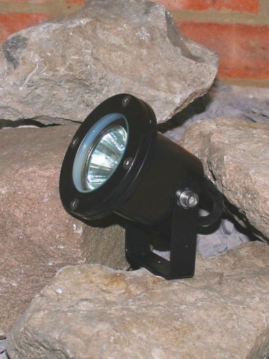 Atlantus Underwater Light - 12v - Black Powder Coated MR16 IP68 Comes With Stirrup & 6m Cable