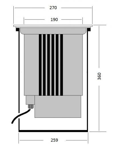 Delphi - 240v - 316 Stainless Steel 44w 3000k 5200 Lumens IP67 20 Degree Tilt Round Recessed Light