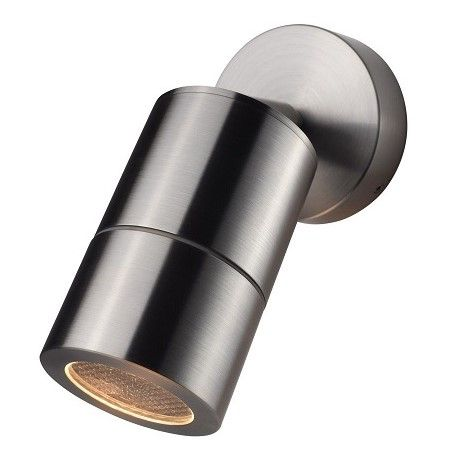 Compact 240v - 316 Stainless Steel IP65 GU10 - Adjustable Spot Wall Light