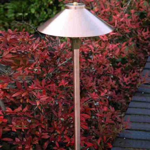 Midas, pathway Spreadlight, natural copper, 12v, IP66