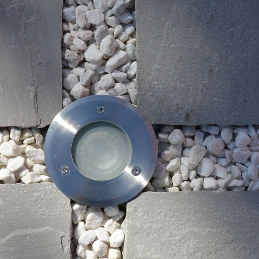 Sol - 240v - 304 Stainless Steel 3w 3000k 200 Lumens IP67 Fixed Round Recessed Spot 92mm Bezel