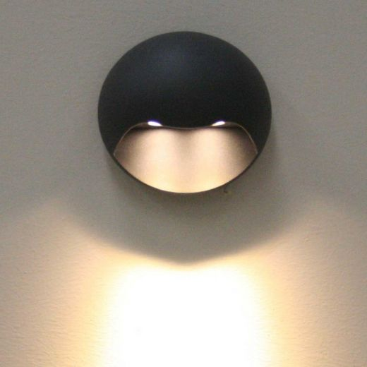 Gemini Wall Light - Graphite Grey - Warm White 3000k -  Graphite IP54 - 240v - 261 lumens