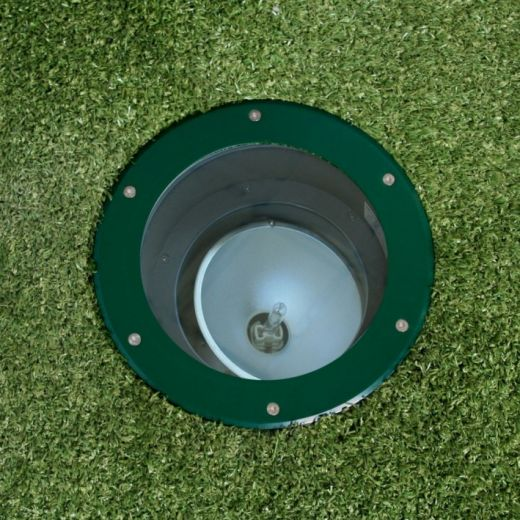 Olympus 70 - 240v Metal Halide Green Powder Coated Bezel & Aluminium Body IP67 Recessed Light - Uses 70w CDMT Lamps