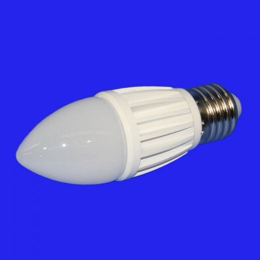 7w LED 2700k warm white, E27 base, 650 lumens Candle Lamp non dimmable