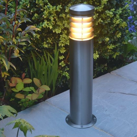 Alto - 304 Stainless Steel IP44 E27 240v - 600mm Height - Surface or Spike Mounted Bollard