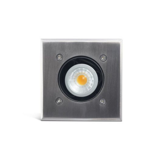 Modula - 12v 316 Stainless Steel Bezel Aluminium Body 30 Degree Tilt Square Recessed Spotlight IP67 MR16 120mm Bezel
