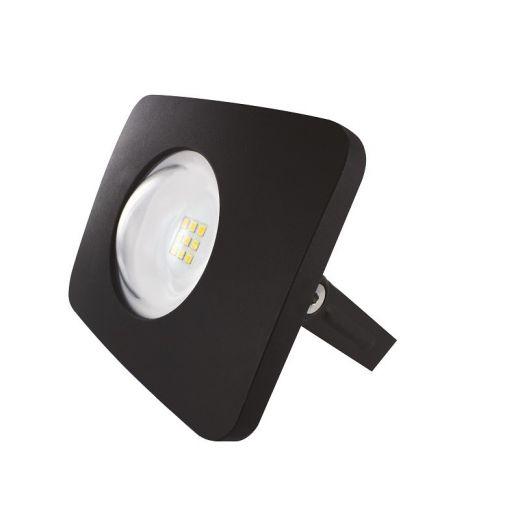 Compact Floodlight - 240v - Black - 10w IP65 Cool White 4000k 1000 lumens - Floodlight