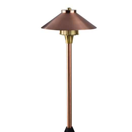 Midas Tapered - 12v - Copper IP66 G4 - Spike Spreadlight 540mm Height 245mm Dome Diameter