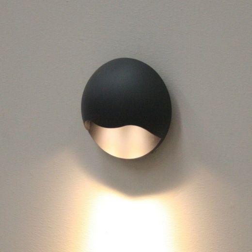 Gemini Outdoor Black - Wall Light - Warm White 3000k - Black 240v - 261 lumens
