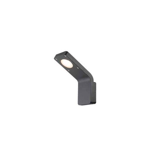 Insika - 240v Graphite Grey Powder Coated Aluminium IP54 7w 3000k 367 Lumens - Wall Light