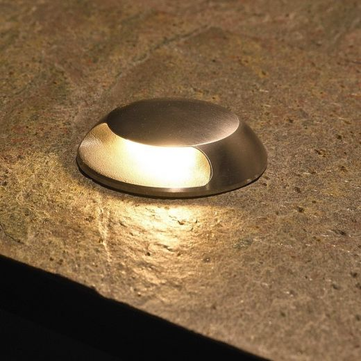 Micro Waymarker LED Recessed Light 90° -12/24v DC-3w-100lm-2700K-IP67- 316 Stainless Steel