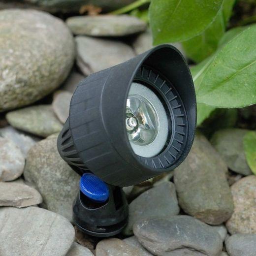 Lunar Black 12v IP68 MR16 Maximum Wattage 3w Underwater Spotlight - Plug & Play