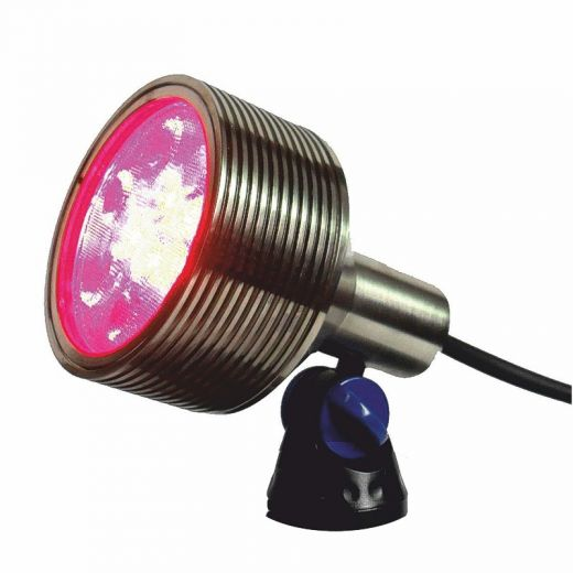 Luxes - Underwater Light - 12v - Nickel Plated Brass Body - IP68 18W RGB Colour Change. Plug & Play