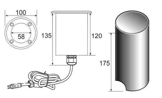 Lumimax - 12v - Plug & Play 316 Stainless Steel RGB 24w 400 Lumens IP68 30 Degree Beam Fixed Round Recessed Light
