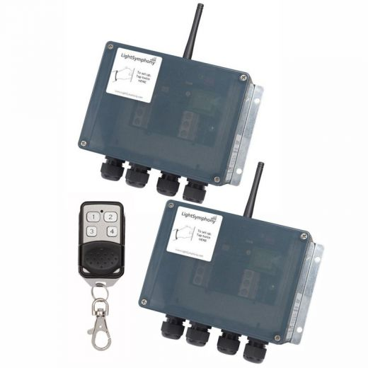 2 x 2 Channel Starter Kit: Key Fob - Two 2 Channel Controllers