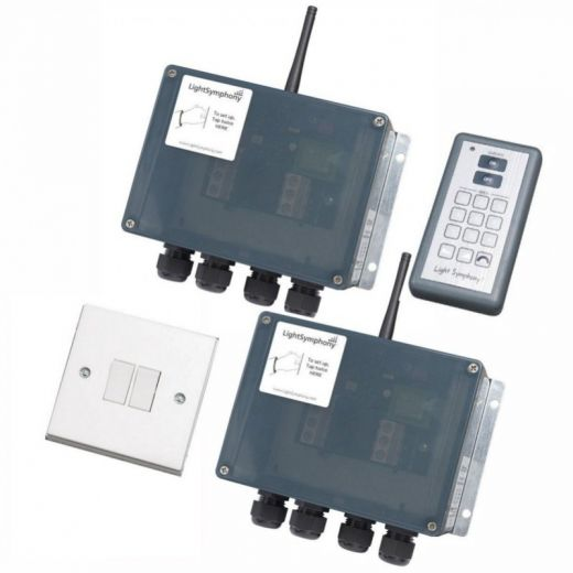 2 X 2 Channel Starter Kit: Handset - Wall Switch - Two 2 Channel Controllers