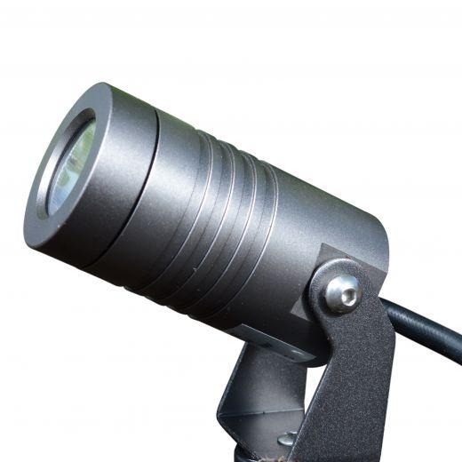 Spike3 Anthracite 12v 3w 2700k 130 Lumens IP67 40 Degree Beam Angle Spotlight