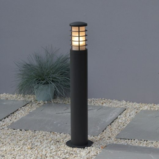 Stella - Graphite IP54 E27 240v Max 20w 650mm Height Surface Or Spike Mounted Bollard