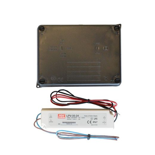 35w - 24v Dc - Potted LED Power Supply In IP65 Enclosure