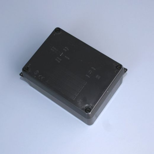 IP65 junction box (plain sides) - Black - 165 x 145 x 84mm
