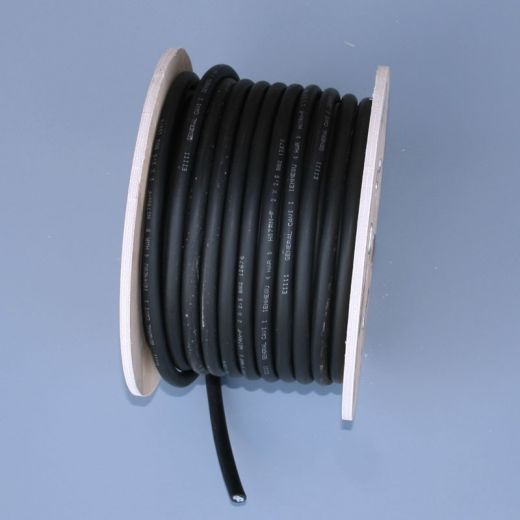 Ground burial 2 core low voltage cable - Black - 12v - 2.5mm - 50m