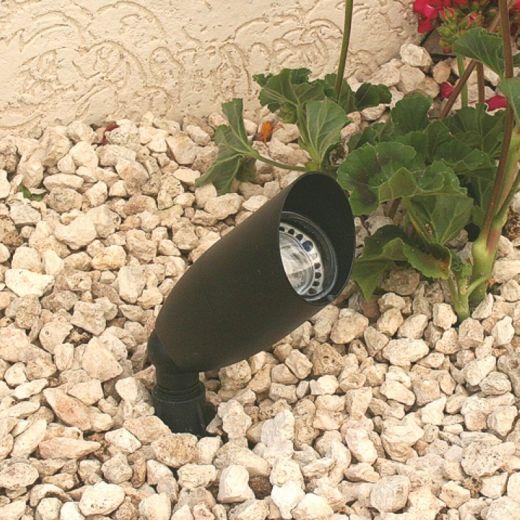 Taurus - Black 12v - Powder Coated Aluminium IP56 MR16 - Spike Spotlight - Plug & Play - Choice of 2 Colours