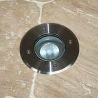 Modula - 12v 316 Stainless Steel Bezel Aluminium Body 30 Degree Tilt Round Recessed Spotlight IP67 MR16 120mm Bezel