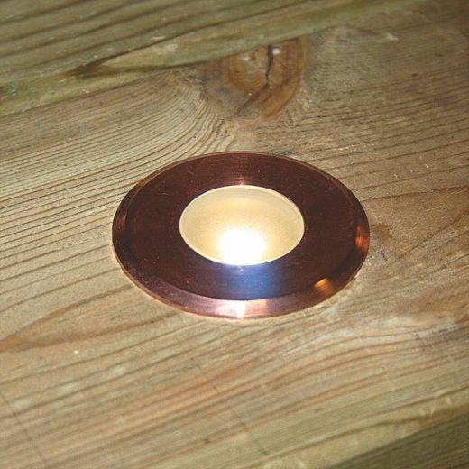 Navigator Maxor 12v DC Copper Recessed Deck Light 2700k 1w 101 Lumens IP65