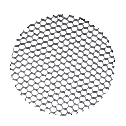58mm honeycomb glare louvre - Black aluminium 58mm x 3mm