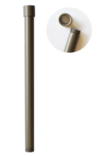 Charleston Aluminium 300mm Threaded Extension Pole (Rustic Brown Finish)
