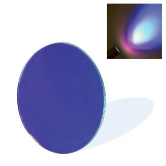 Dichroic Glass Lens - Blue (50mm) with Spring Clip