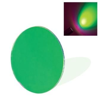 Dichroic Glass Lens - Green (50mm) with Spring Clip