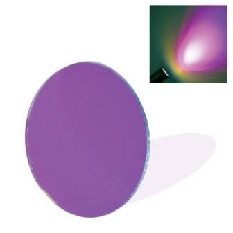 Dichroic Glass Lens - Purple (50mm) with Spring Clip