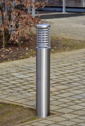 Stelled - 316 Stainless Steel E27 220 - 240v IP65 - Root Mounted Bollard - Choice Of 2 Height Options & LED Lamp